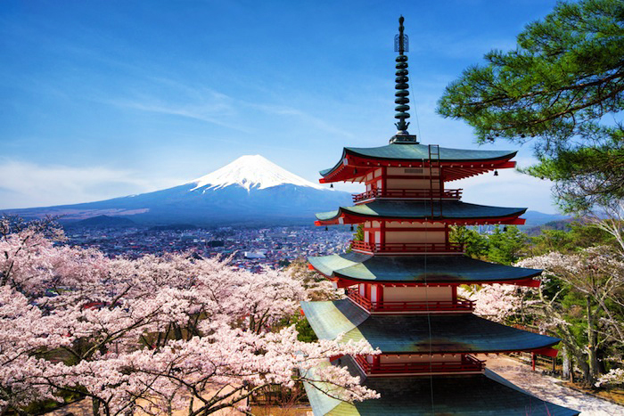 see Mount Fuji from Chureito Pagoda