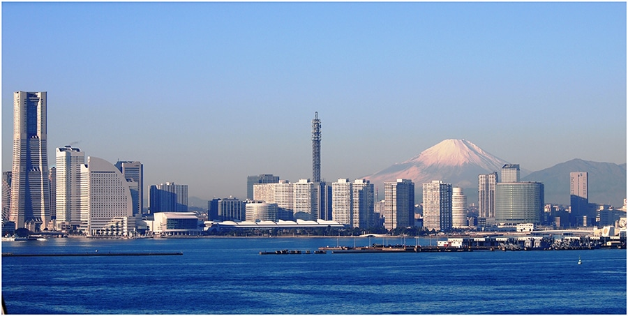 see mount fuji from yokohama
