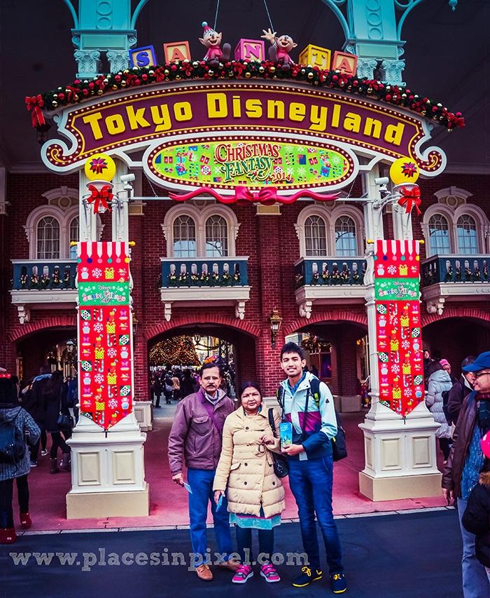 Christmas carnival at Tokyo Disneyland