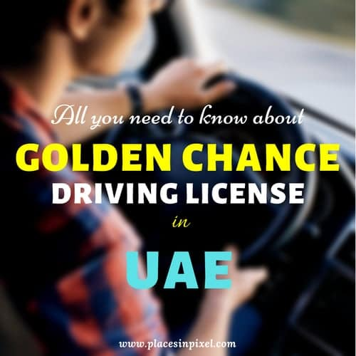 Golden Chance Driving License